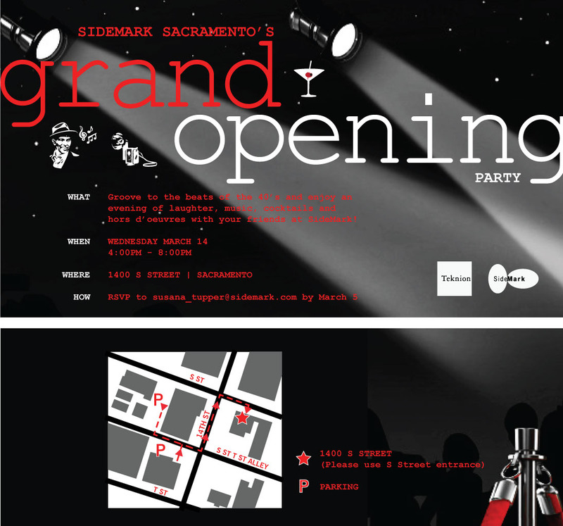 SideMark Sacramentos Grand Opening Party – Grand Opening Party Invitations